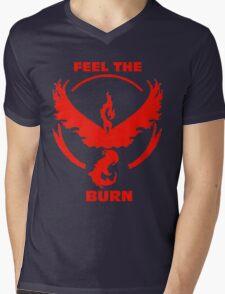 Feel The Burn - Team Valor Mens V-Neck T-Shirt