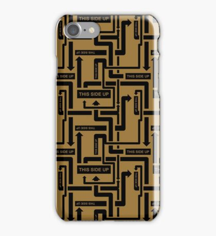 """""""This Side Up"""" shipping label joke iPhone Case/Skin"""