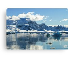 Wilhelmina Bay Antarctica  Canvas Print