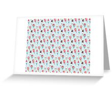Frozen Delights Watercolor Illustration Pattern Greeting Card