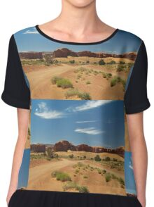 Cross Roads in Monument Valley Chiffon Top