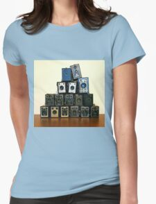 Camera Stack Womens Fitted T-Shirt