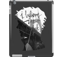 are u believe in sherlock? iPad Case/Skin