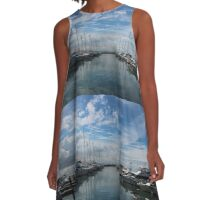 Nelson Bay Harbour A-Line Dress