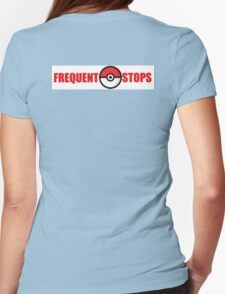 Pokemon Go - Frequent Stops - Recommended Size for Car is Large Womens Fitted T-Shirt
