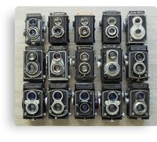 TLR Cameras Canvas Print