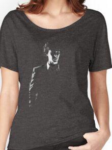 Sherlock standing in dark red Women's Relaxed Fit T-Shirt