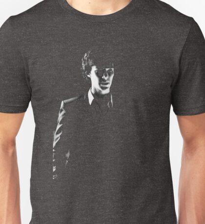 Sherlock standing in dark red Unisex T-Shirt