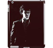 Sherlock standing in dark red iPad Case/Skin