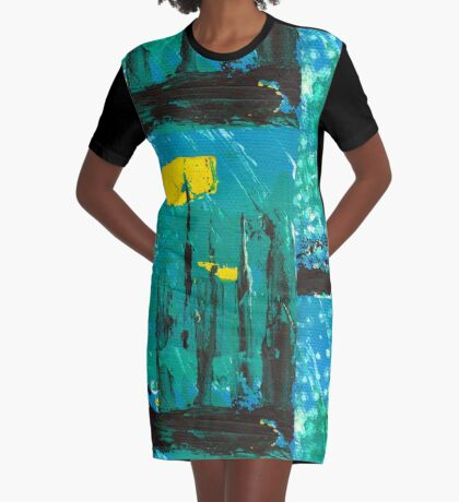 City of Industry Graphic T-Shirt Dress