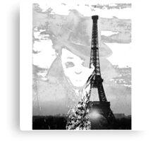 Sherlock black white 00001 Canvas Print