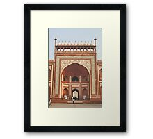Gateway at the Taj Mahal Framed Print