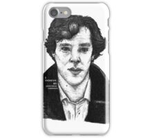 Sherlock black white 00002 iPhone Case/Skin