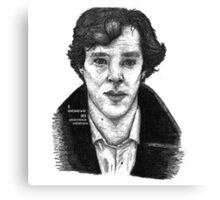 Sherlock black white 00002 Canvas Print