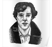 Sherlock black white 00002 Poster