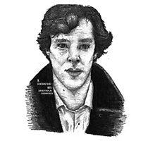 Sherlock black white 00002 Photographic Print