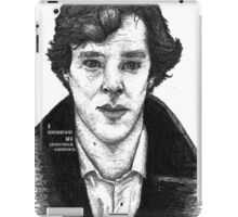 Sherlock black white 00002 iPad Case/Skin