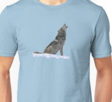 Wolf In Snow Unisex T-Shirt