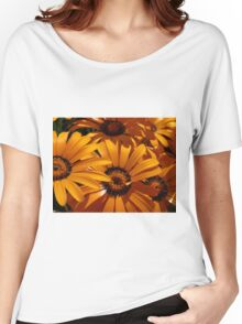 Seeing Orange ~ Africian Daisies Women's Relaxed Fit T-Shirt