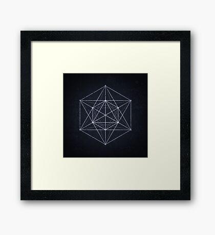 Sacred geometry / Minimal Hipster Symbol Art Framed Print