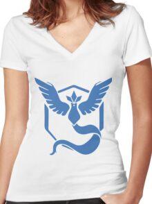 Team Mystic Pokemon Go Women's Fitted V-Neck T-Shirt