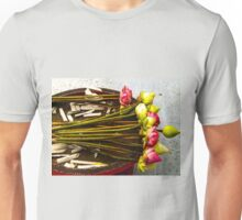 Temple offerings, Chiang Mai, Thailand Unisex T-Shirt