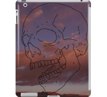 skull w/ some clouds behind iPad Case/Skin