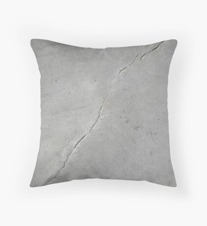 Cracked Concrete Throw Pillow