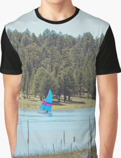 Boat on Lake Mary Graphic T-Shirt