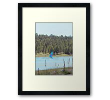 Boat on Lake Mary Framed Print