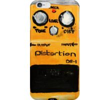 Distortion Pedal Guitar Pedal Original Art iPhone Case/Skin
