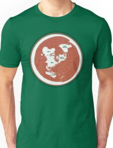 Flat Earth Maps Unisex T-Shirt