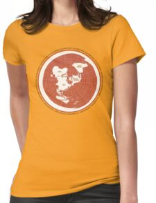 Flat Earth Maps Womens Fitted T-Shirt