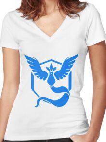 Team Mystic Logo (Pokémon GO) Women's Fitted V-Neck T-Shirt