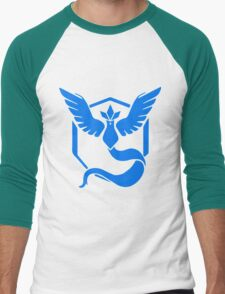 Team Mystic Logo (Pokémon GO) Men's Baseball ¾ T-Shirt
