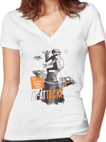 AT-ATTACK! Women's Fitted V-Neck T-Shirt
