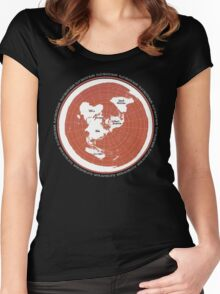 Flat Earth Maps Women's Fitted Scoop T-Shirt