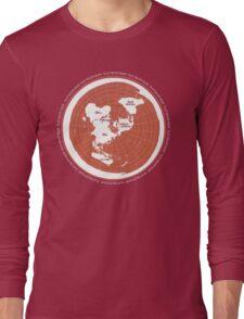 Flat Earth Maps Long Sleeve T-Shirt