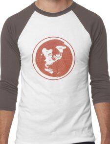 Flat Earth Maps Men's Baseball ¾ T-Shirt