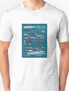 A SEA FULL OF CETACEANS: WHALES, DOLPHINS, AND PORPOISES Unisex T-Shirt