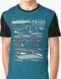 A SEA FULL OF CETACEANS: WHALES, DOLPHINS, AND PORPOISES Graphic T-Shirt
