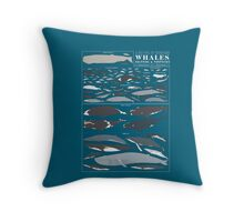 A SEA FULL OF CETACEANS: WHALES, DOLPHINS, AND PORPOISES Throw Pillow