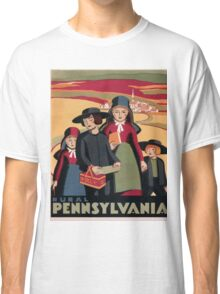 Rural Pennsylvania Vintage Travel Poster Classic T-Shirt