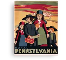 Rural Pennsylvania Vintage Travel Poster Canvas Print