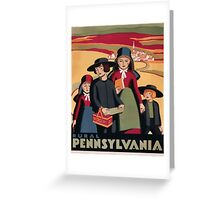 Rural Pennsylvania Vintage Travel Poster Greeting Card