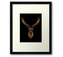 Deer Hologram Framed Print