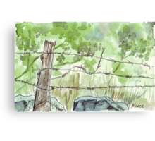 The fencepost Canvas Print