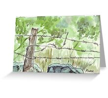 The fencepost Greeting Card