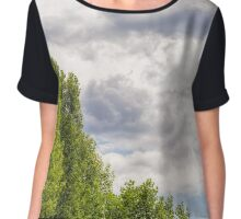 Stormy Sky Over the trees Chiffon Top