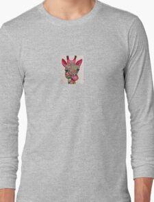 Pink giraffe Long Sleeve T-Shirt
